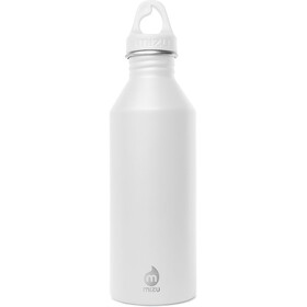 MIZU M8 Bidon with White Loop Cap 800ml biały